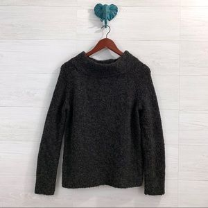 Moth Wool Blend Mock Neck Chunky Knit Sweater